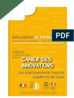 Carnet Des Innovations UNESCO 2012 - Académie de Lyon