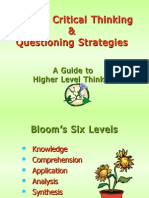 Blooms Critical Questioning 3