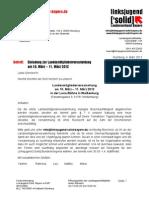 Einladung Und Tagesordnung Der LMV WUG 2012