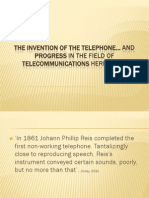 DT-Invention of the Telephone & Evolution in Telecommunications