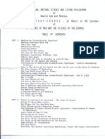 Walter Russell Home Study Course TOC