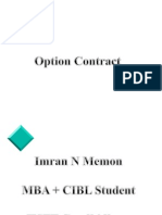 Option Contract (Imran)