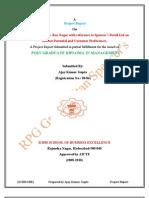 spencersretailltd-projectreportsummerinternshipproject-100724220849-phpapp02