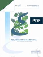 Declaración medioambiental 2010 validada