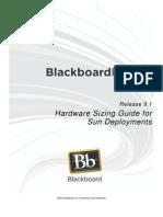 Blackboard Learn 9.1 Hardware Sizing Guide for Sun Deployments