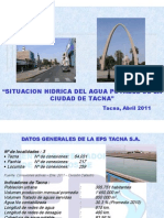Situacion y Proyeccion de Los Servicios Basicos en Tacna EPS