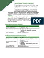 Excel Commands