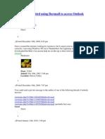 Setup Thunder Bird Using Davmail to Access Outlook Web Access