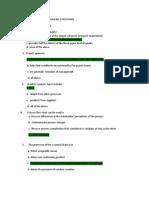 Six Sigma Questions Sample