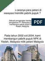 Bagaimana Petani Di Malaysia Mempunyai Pabrik Pupuk