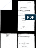 Berthier, Hugues. 1922. Manuel de langue Malgache (dialecte Merina). Tome I.