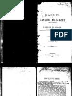 Berthier, Hugues. 1922. Manuel de langue Malgache (dialecte Merina). Tome II.