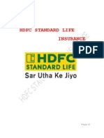 47582342 Project on Hdfc Standard Life
