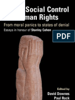Crime Social Control and Human Rights From Moral Panics to States of Denial Essays in Honour of Stanley Cohen