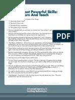 00. Advanced Learning & Teaching - Summaries