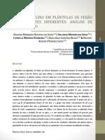 Estresse salino em plântulas de feijão em ambientes diferentes análise de crescimento