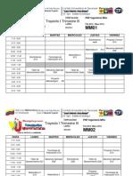 Horarios (PNF ING MANTENIMIENTO(Horarios Faltantes) Trayecto 1,2y3 y Varios Trimestres Febrero-mayo 2012.