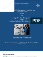 Curriculum for Participatory Learning and Action Research (PLAR) for Integrated Rice Management (IRM) in Inland Valleys of Sub-Saharan Africa  -- PLAR Facilitator Manual