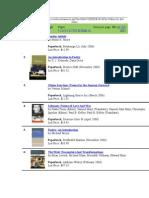 2006 Top 10 poetry book rankings