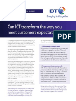 Can ICT transform the way you meet customers expectations?
