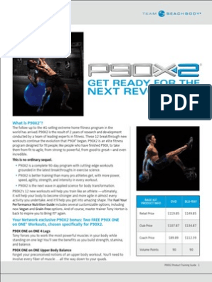 p90x2 Product Training Guide | Physical Fitness | Physical