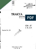 trakya istatistikleri 1935