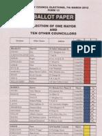 Sample Ballot - City Council