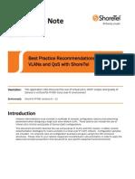 Best Practices Vlans and Qos