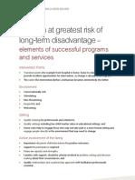 Elements Programs Children Greatest Risk