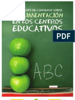 Documento de Consenso sobre la alimentacion en los centros educativos