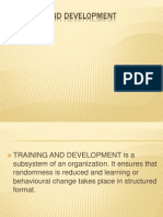 Copy of Training and Development