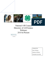 4-H Directory of Webinars