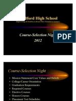 MHS Course Selection Presentation 2012