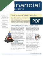Financial Well-Being, Winter 2012 eNewsletter