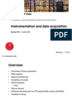 L6 - Instrumentation and Data Acquisition