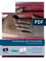 Coordinating with Communities - Workshop Facilitation Notes