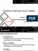 Advanced Cold Fusion - Error Handling