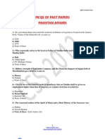 Pak Affairs Past Papers Mcqs