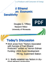 Dry Grind Ethanol Production Economic Sensitivity