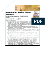 Sinai Basket Auction Catalog 2