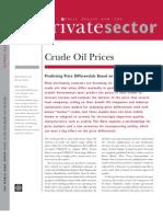 Crude Oil Estimating Prices