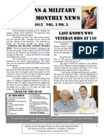 Veterans & Military Families Monthly News-March 2012
