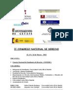 II Congreso Nacional de Derecho. Programa