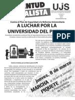 A luchar por la Universidad del pueblo, Boletín #3, Marzo 2012