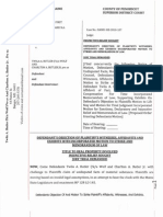 BANSC-RE-2010-187-Defendants Obj Ps Witnesses Affidavits 0001