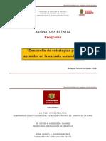 Veracruz Desarrollo Estrategias Aprender Secundaria