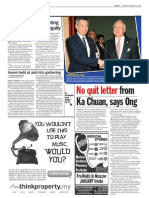 TheSun 2008-11-24 Page02 No Quit Letter From Ka Chuan Says Ong