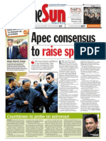 TheSun 2008-11-24 Page01 Apec Consensus to Raise Spending