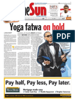 TheSun 2008-11-25 Page01 Yoga Fatwa on Hold