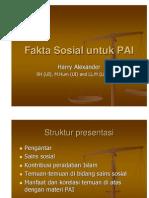 Fakta Sosial untuk PAI